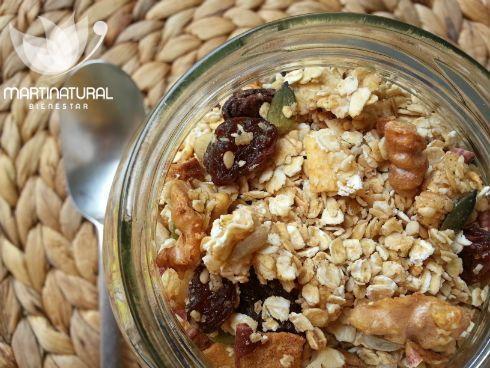 Granola súper energética de nueces y semillas