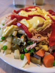 Ensaladilla con patata y verduras